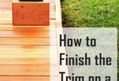 How to Trim a Redwood Deck: Finishing Touches Before Staining & Sealing