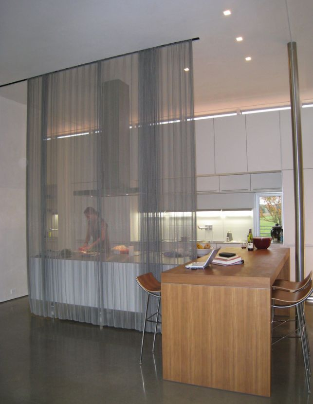 kitchen divider high end cabinets how to reinvent spaces with curtain room dividers view in gallery