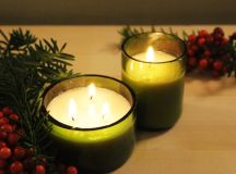DIY Christmas Gift Idea: Glass Bottle Candle images 21