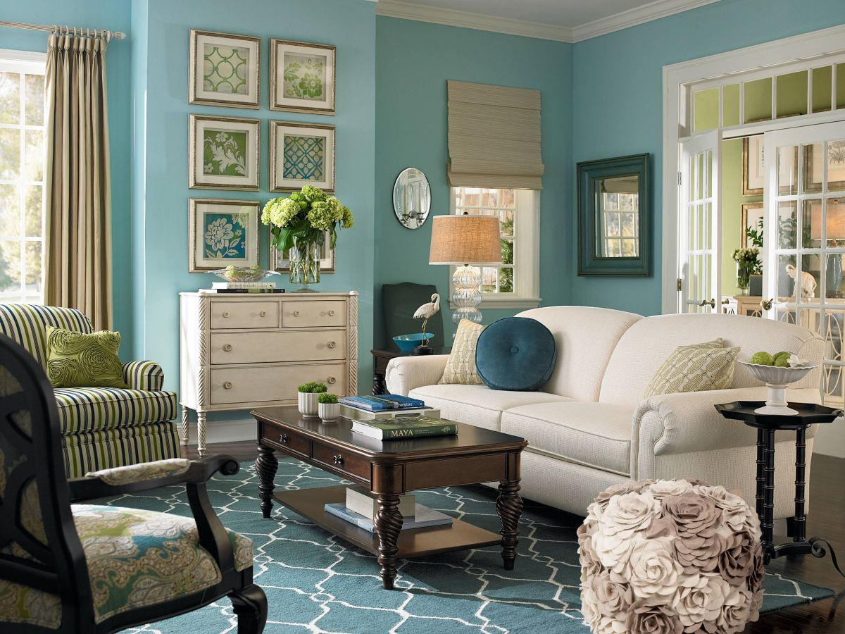 teal decorating ideas for living room bay window 10 rooms that boast a color view in gallery
