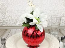 Christmas Ornament Floral Table Decor images 12
