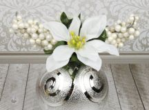 Christmas Ornament Floral Table Decor images 2