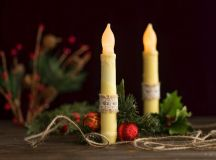 DIY Rustic Wax Covered LED Taper Candles