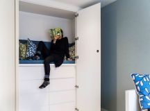Two bedrooms with en-suited occupy the fourth floor. They were designed for the kids and have a lot of cool features
