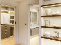 The master suite has been restructured to include a dressing room extension adjacent to the bathroom