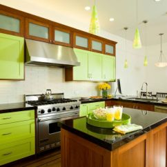 Green Kitchen Cabinets Circle Table Invigorating Ways To Decorate With View In Gallery