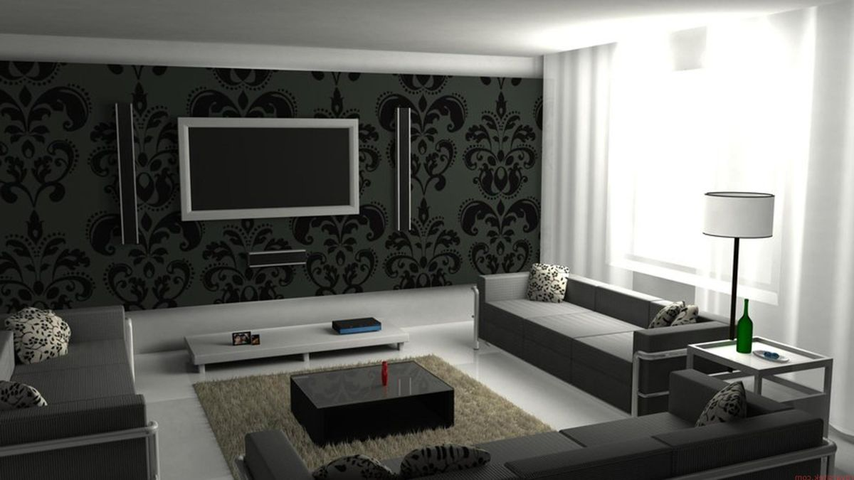 amazing living room wallpaper modern design ideas 2016 12 backdrops to make your mounted tv more interesting wall with black