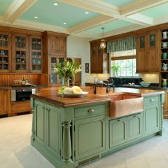 Green Kitchen Cabinets Alder Invigorating Ways To Decorate With View In Gallery