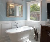 wainscoting in a bathroom