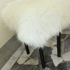 5 Piece Kitchen Table Set Subway Tiles In Diy Fur-covered Stool