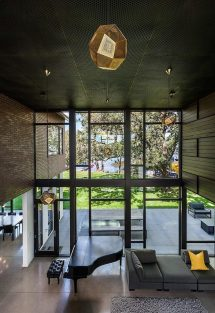Modern-industrial Lakeside House Family Of Eight