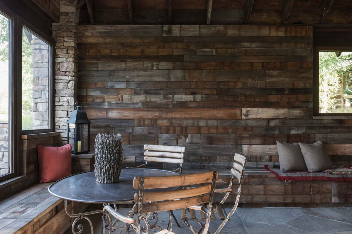 wood wall living room rooms with sectionals and fireplace how a can influence space s decor ambiance view in gallery