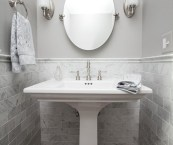 grey powder room
