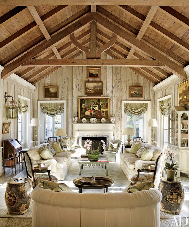 rustic living rooms large room art 40 ideas to fashion your revamp around 6 with beams