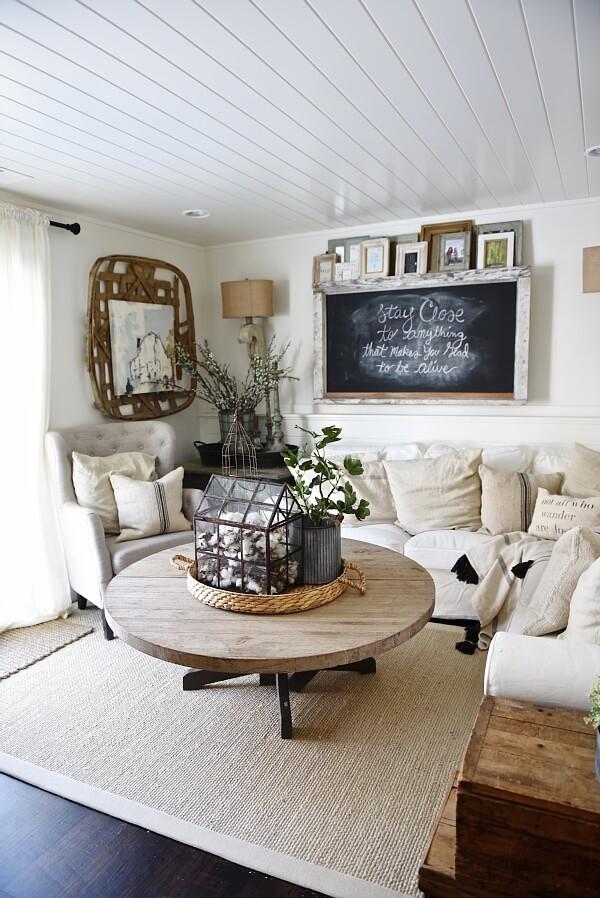 40 rustic living room