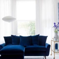 Blue Modern Living Room Grey Carpet Ideas 29 Rooms Made For Relaxing Velvet Sofa