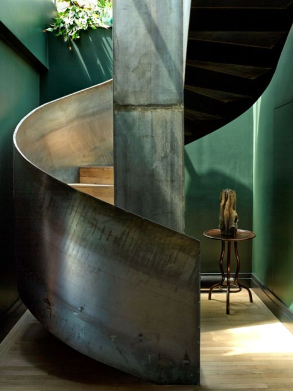 Industrial Metal Spiral Staircase