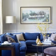 Bright Colour Living Room Ideas Walls Painted Gray 29 Blue Rooms Made For Relaxing Traditional Sectional