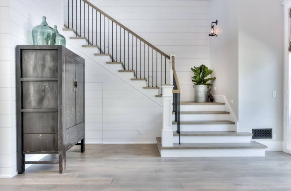 medium resolution of l shaped stairs are attractive and take up less space