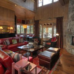 Pictures Of Living Rooms With Stone Fireplaces Gold Paint Colors For Room Beautiful Mountain Retreats View In Gallery
