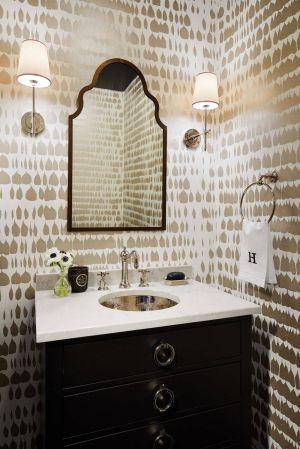 powder bathroom queen schumacher spain silver bathrooms statement mirrors gold warm wall chicago priced elegant transitional mirror bath paper yard