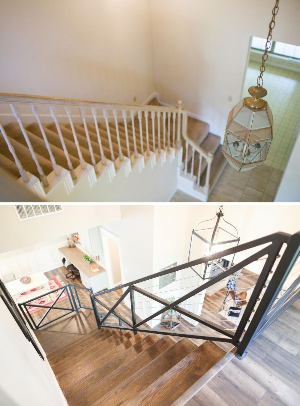 How To Give Your Old Stair Railings A Fresh New Look On A Small Budget   Wrought Iron Stair Railings Interior Cost   Stair Parts   Iron Staircase Railings   Rod Iron Balusters   Wood   Stair Spindles