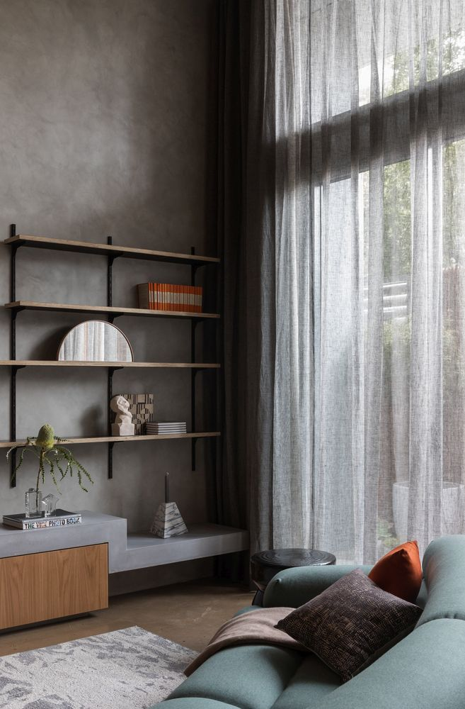 A lot of the furniture pieces have been custom-designed specifically for this apartment