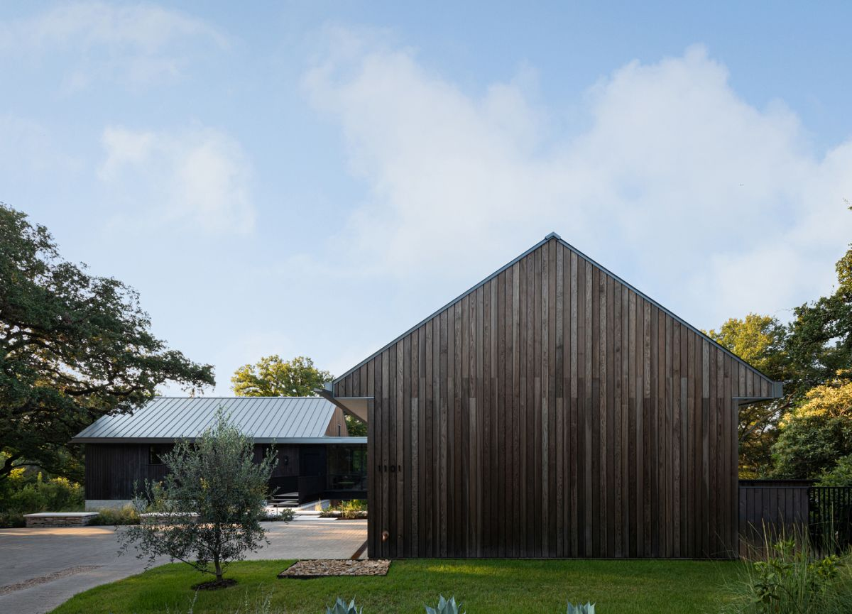 Although it has plenty of cool and unusual design features, the house maintains a simple and modest appearance