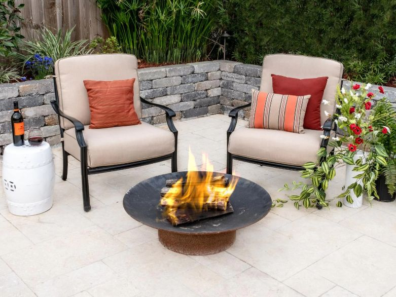 patio sets with fire pits