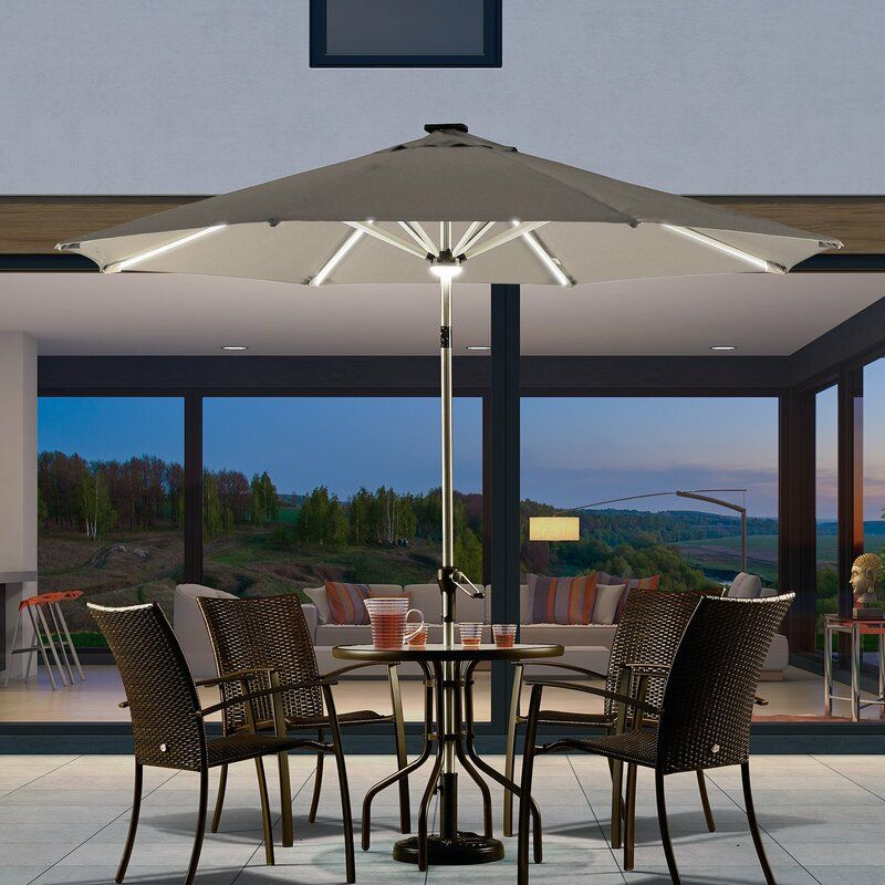 patio nights with the best umbrella lights