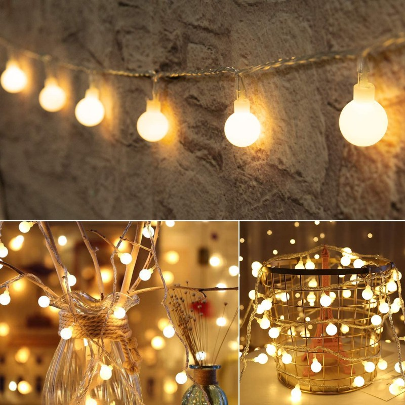 33 FT 100 LED Globe Ball String Lights