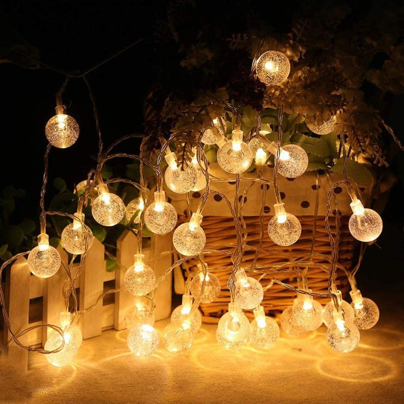 MOICO Globe String Lights for Bedroom