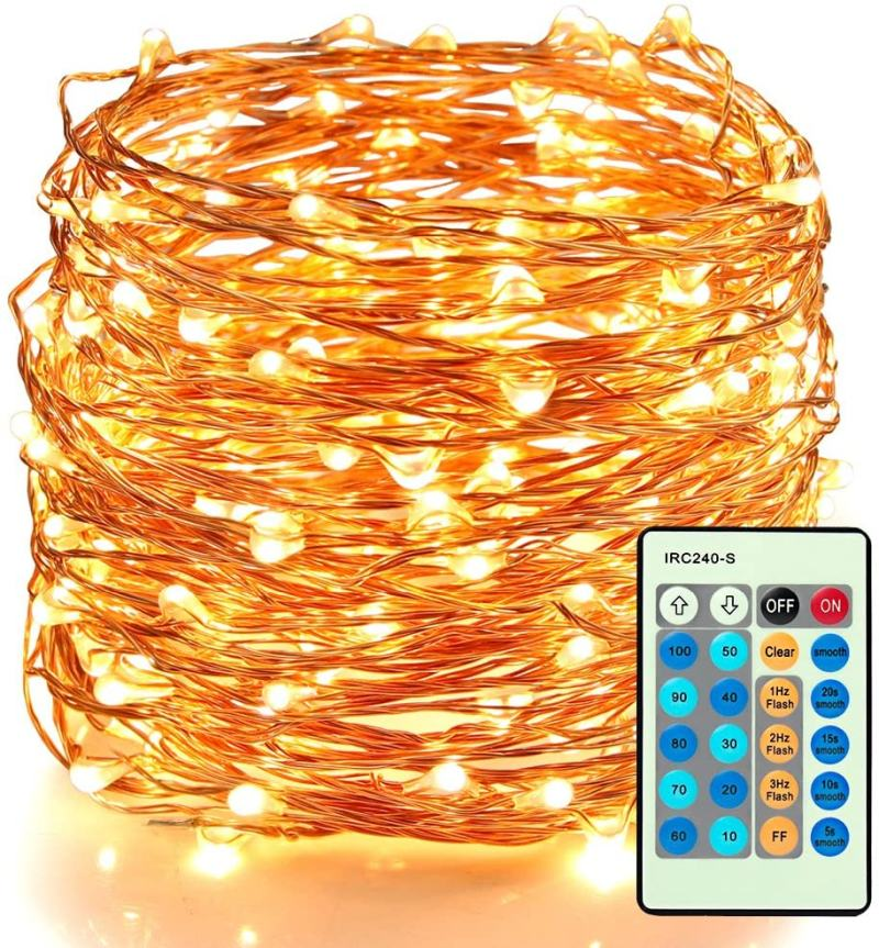 Moobibear 66ft 200 LED Outdoor String Lights Plug In