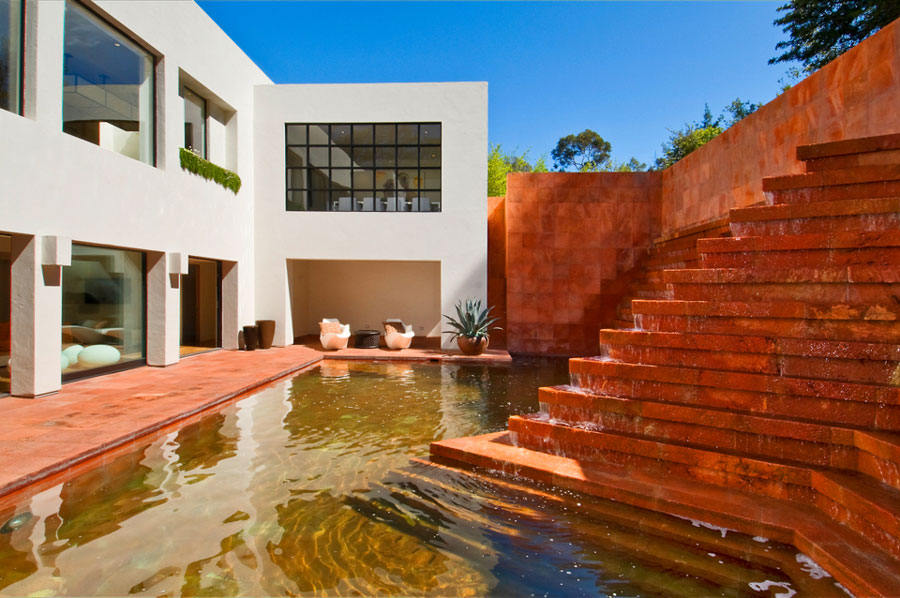 Spectacular Luis Barragn Fountain Home Remodel by Tim Cambell