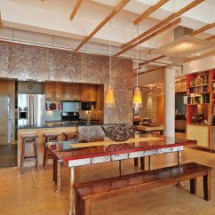New York Loft Style Living Room Harley Davidson Decor Ideas Industrial In Manhattan City