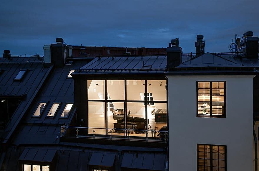 Scandinavian Design Stylish Attic Penthouse in Stockholm