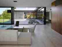 White Floor Tiles Living Room Design
