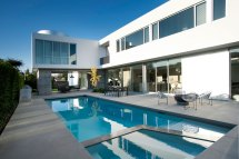 Modern White Stucco House