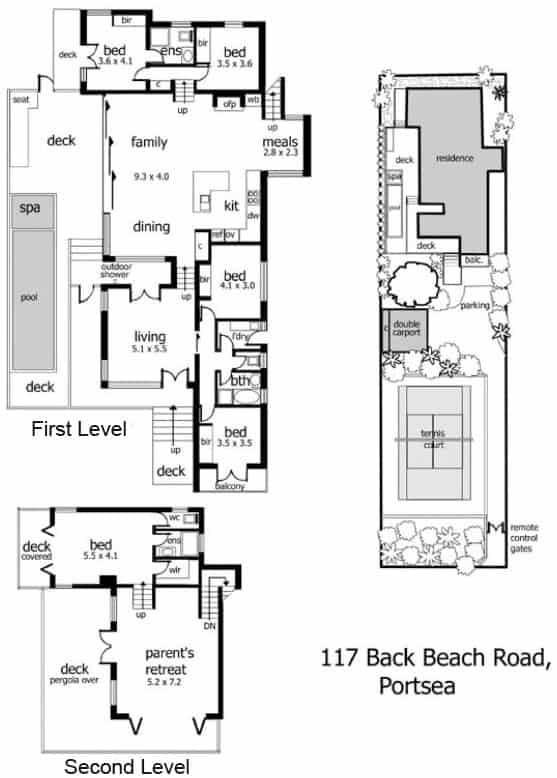 Split Level Beach Home In Back Beach