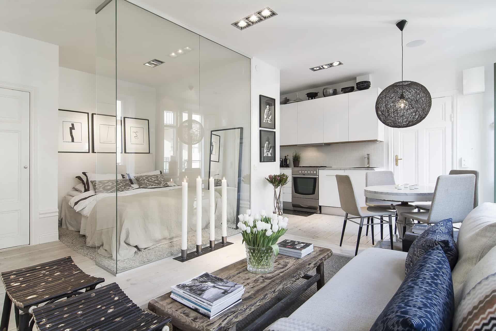Airy Scandinavian And Mid-Century Modern Apartment