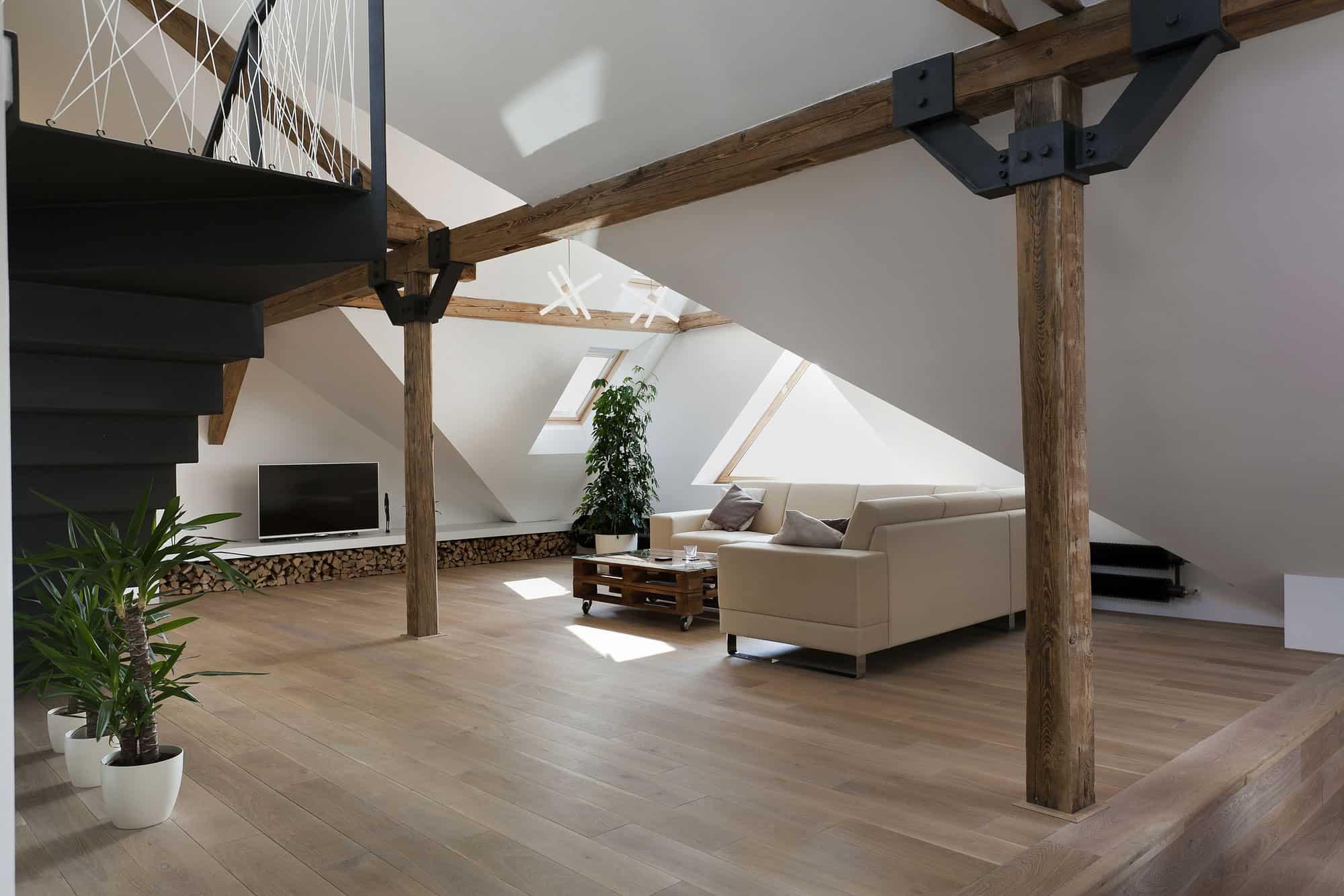 Attic Loft Reconstruction by B Architecture