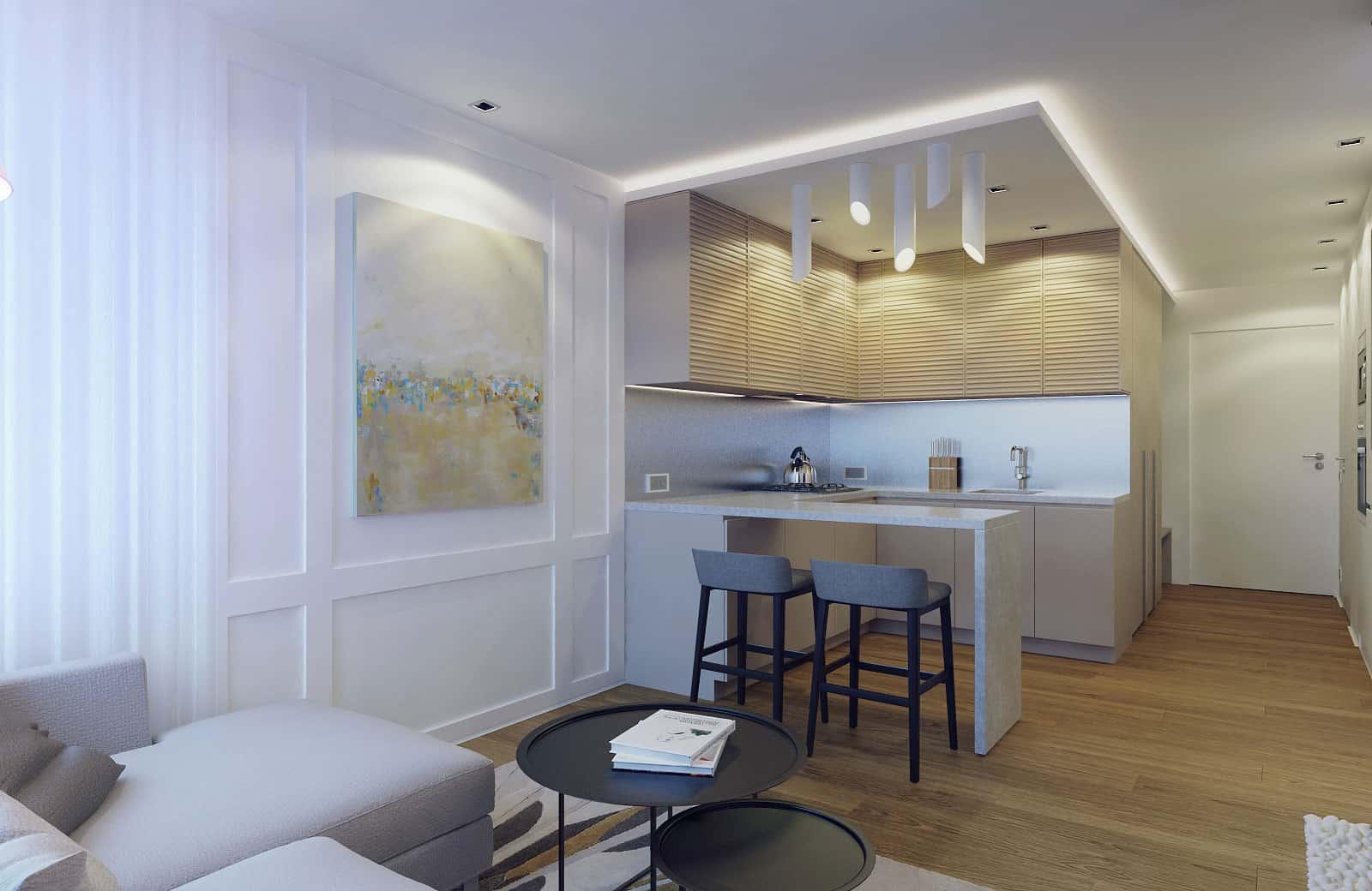 Eugene Meshcheruk Designs Cozy 500 Square Foot Apartment