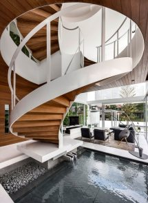 Contemporary House with Spiral Staircase