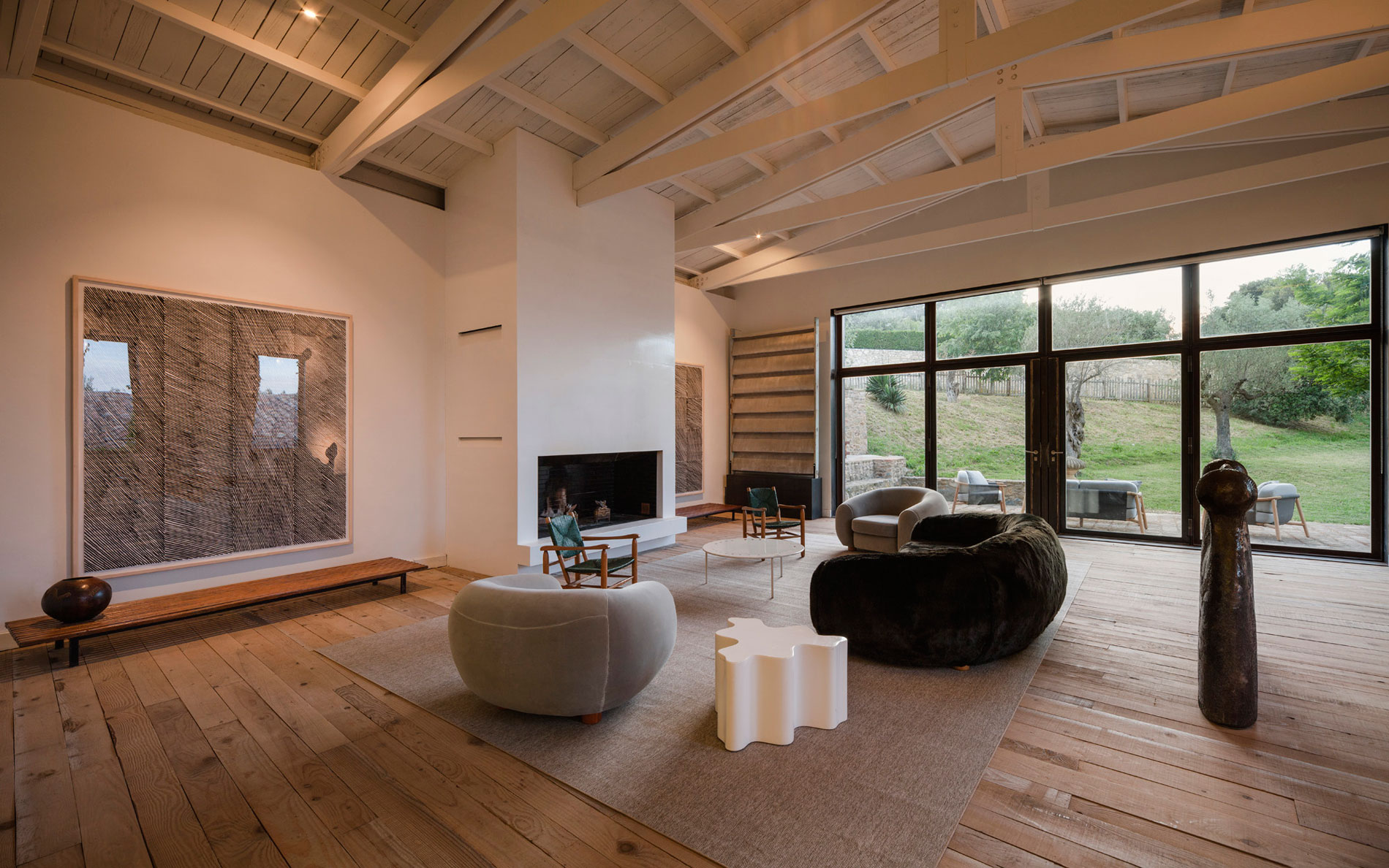 A Rustic Home Full of Art Designed by Francesc Rif Studio
