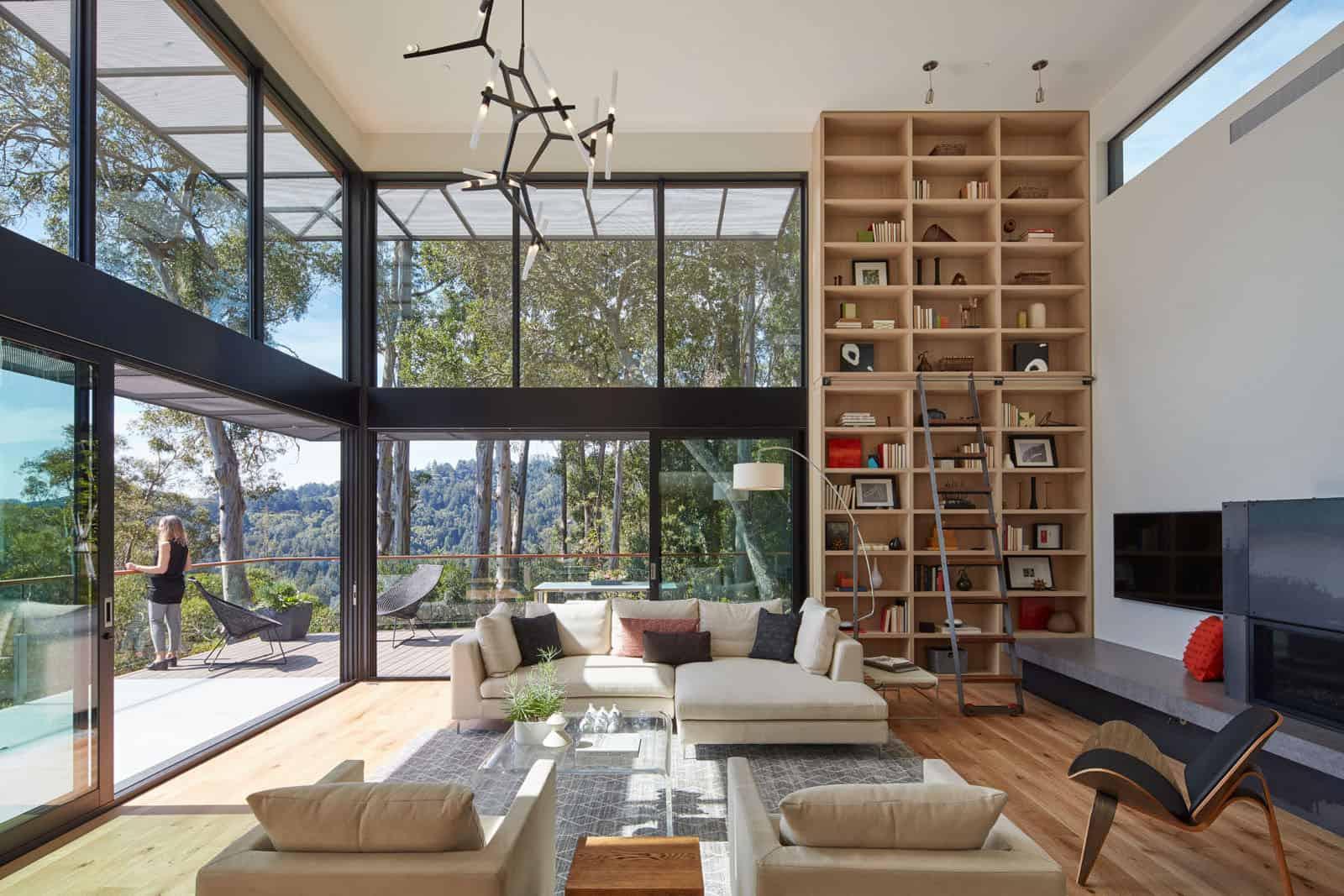 Zack De Vito Architecture Construction Designs A Hillside House In The Mill Valley