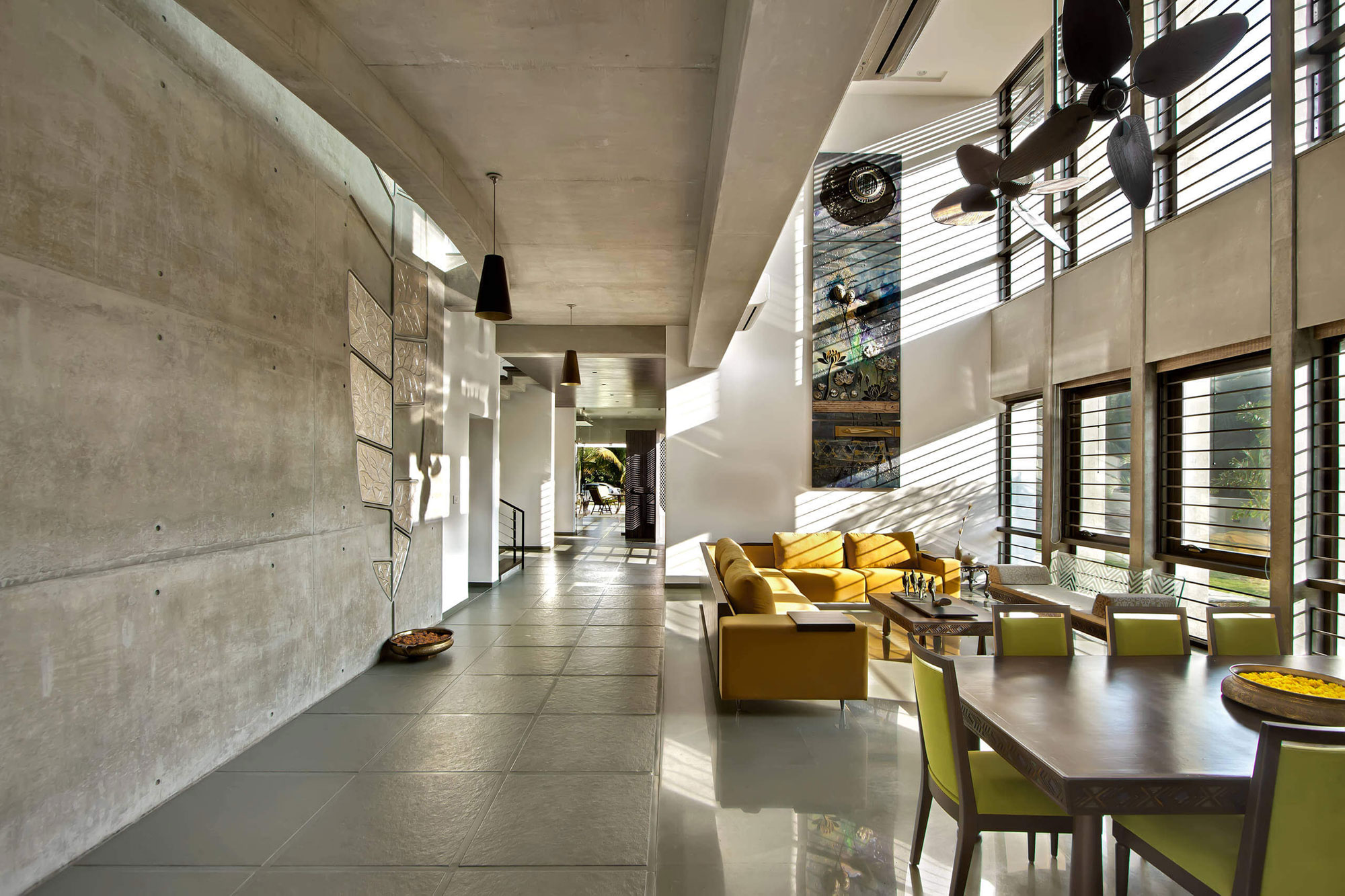 Dipen Gada  Associates Design a Spacious Contemporary Home in India