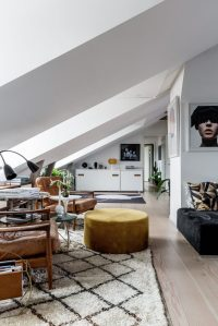 A Cozy Scandinavian Attic in Stockholm, Sweden