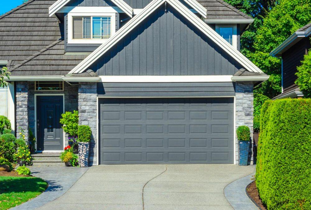 medium resolution of classic aluminum double garage door install door matching color of home