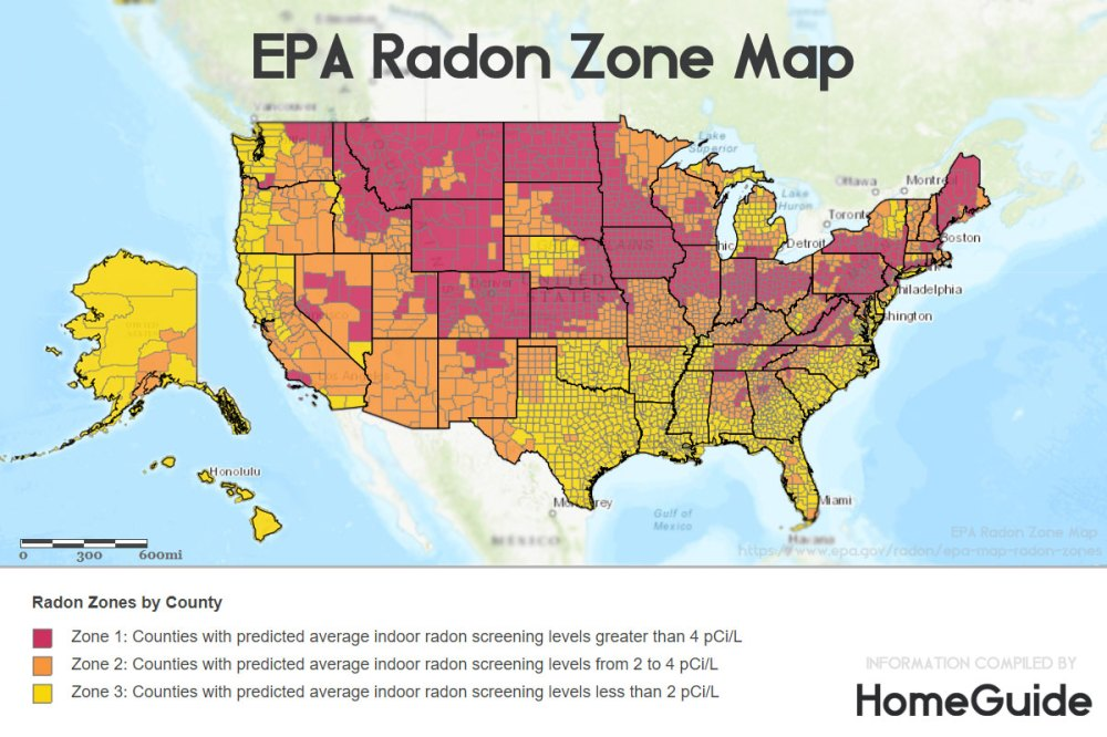 medium resolution of epa radon levels zones map chart by zip code county city