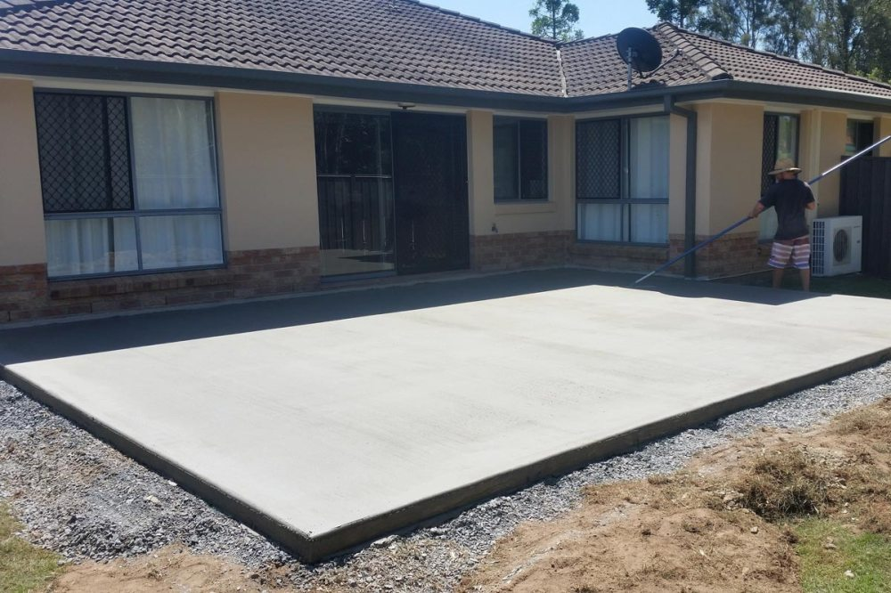 medium resolution of finishing a 12x120 reinforced concrete slab with professional installation